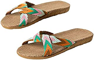 Linen Slippers Sandals Comfortable And Non-Slip In Summer