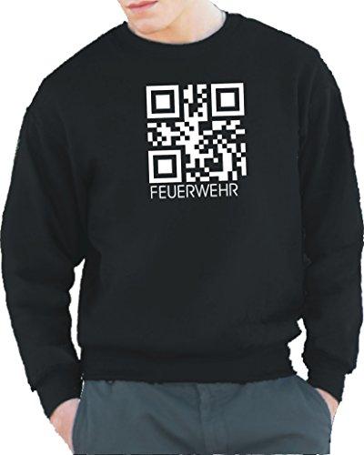 feuer1 'Sweat-Shirt Black, Pompiers, comme QR Code L Noir