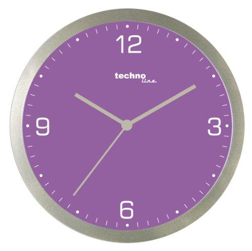 Technoline, WT 9000 Quarzwanduhr, violett, Ø 30cm