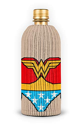 FREAKER Fits Every Bottle Can Beverage Insulator, Stops Bottle Sweat, DC Wonder Woman Suit Superhero Justice League