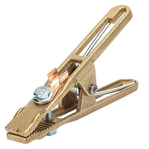 Abrazadera Material de fijación 260/300 / 500A Material de latón A Pinza de conexión a tierra en forma de airada para soldadura por tierra, usado para soldadura de la máquina de madera Adecuado para p