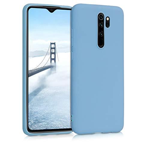 kwmobile Funda Compatible con Xiaomi Redmi Note 8 Pro - Funda Carcasa de TPU Silicona - Protector Trasero en Azul grisáceo