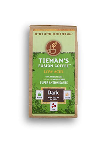 Tieman's Fusion Coffee - Less Acid, Whole Bean, 10 ounce bag