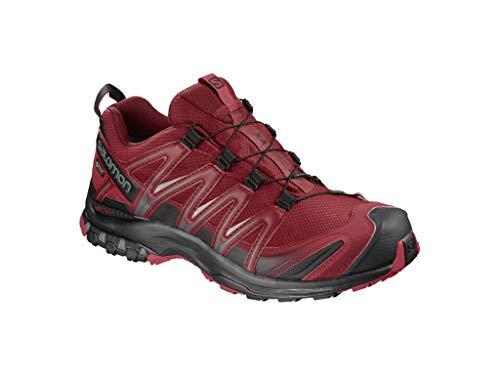 Salomon XA Pro 3D GTX, Zapatillas de Running para Hombre, Rojo (Red Dahlia/Black/Barbados Cherry), 45 1/3 EU