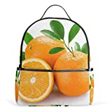 Fresh Orange - Mochila escolar de lona, gran capacidad, casual, para niños, niñas, niños y estudiantes