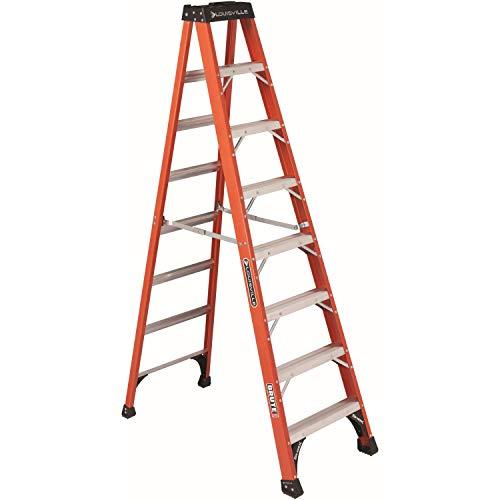 Louisville Ladder FS1408HD 8 ft Fiberglass Step Ladder, 8-Feet, Orange