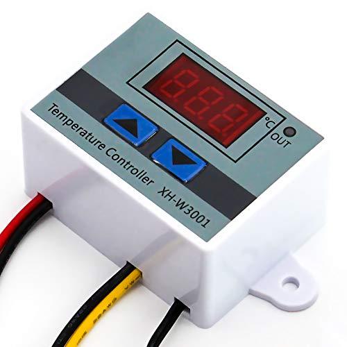 Silverbead® Thermostat Temperaturregler Digital LED Display DC 12V Temperaturschalter [-50~110 °C] Thermoelement Controller XH-W3001, für Aquarium Terrarium Heizungsthermostat Peltier Element