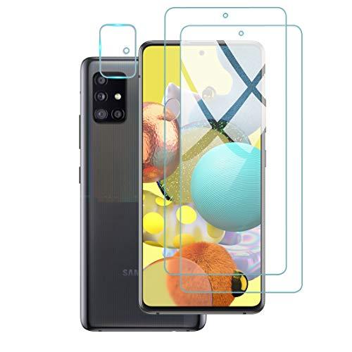 【2枚入】For Galaxy A51 5G フィルム SCG07 / SC-54A 旭硝子製 硬度9H ガラスフィルム 2.5D ウンドエッジ加工 高透過率 耐指紋 自動吸着 撥油性