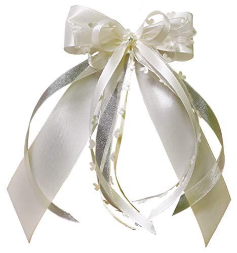 15 Antennenschleifen Autoschleifen Autoschmuck Heart Hochzeit erhältlich (Creme/Champagner/Ivory SCH0145)