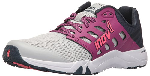 inov-8 Dames All Train 215 Cross-Trainer Schoen, Lichtgrijs/Paars/Navy, 8 Breed