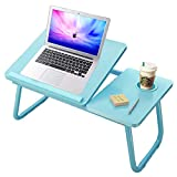Laptop Desk for Bed, Lap Desk for Laptop with Cup Holder,Table Wood Tray for Bed,Adjustable Comptuer Stands with Cup Solt for Writing,Fits up to 17 inchs Notebook for Writing Watching on Couch Sofa
