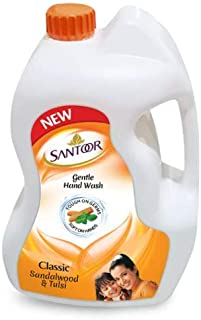 Santoor Classic Gentle Hand Wash, 5000ml with Natural goodness of Sandalwood & Tulsi