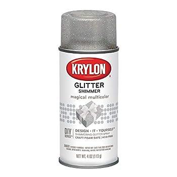 Krylon I00405 Glitter Aerosol Spray Magical Multi-Color Finish