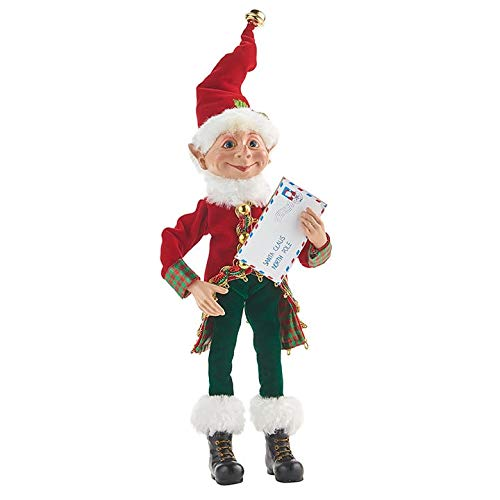 RAZ Imports Santa's Little Helpers 12' Posable Elf with Letter