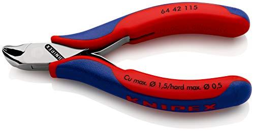 KNIPEX 64 42 115 Elektronik-Vornschneider mit Mehrkomponenten-Hüllen 115 mm