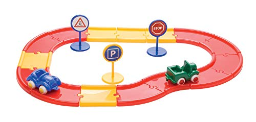 Viking Toys - V45512 - Figurine - Transport et Circulation - Baril Carton - 15 Routes + 3 Voitures