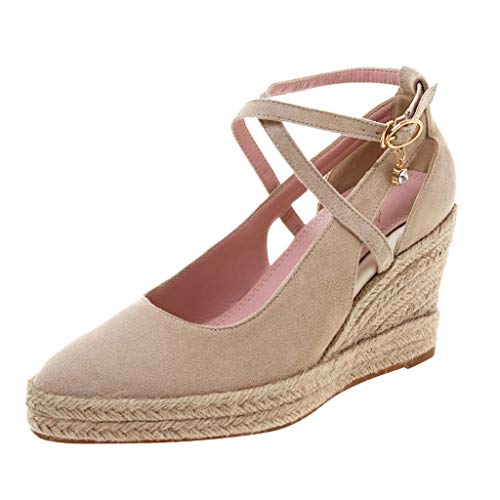 Luckycat Sandalias con Plataforma para Mujer Sandalias Mujer Cuña, Verano Plataforma Punta Cerradas Bohemias Zapatos De…