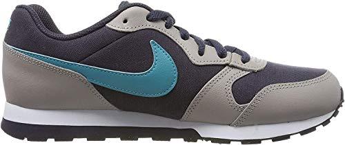 Nike MD Runner 2 (GS), Zapatillas de Running para Niños, Gris (Gridiron/Teal Nebula/Pumice/Faded Spruce 017), 38 EU