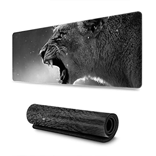 Cheetah That Cries 30 X 80 CM Mousepad with Non-Slip Rubber Base, Soft Computer Keyboard Mice Mat