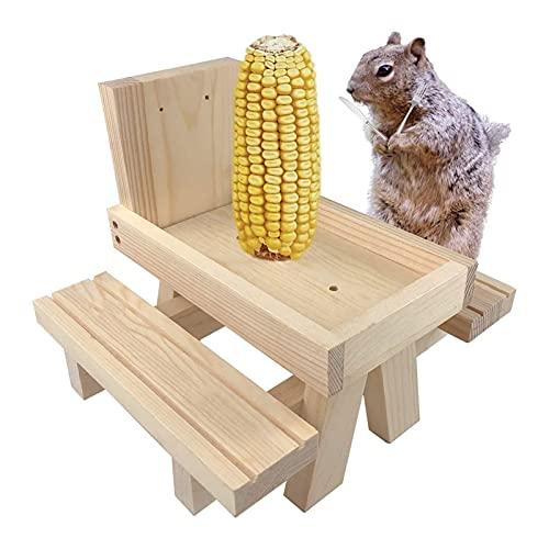 GZWY Casetta per scoiattolo, in legno massiccio avvitato, mangiatoia per scoiattolo, mangiatoia per mangiatoie