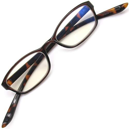 首かけ 老眼鏡 おしゃれ シニアグラス 軽量 リーディンググラス ブルーライトカット (ブラウン +1.50)