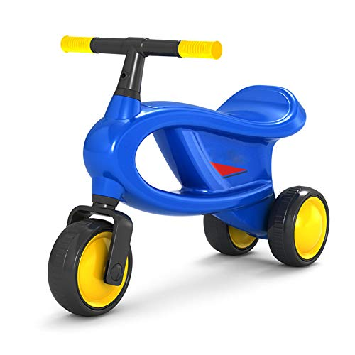 LGLE Baby Scooter Balance Car Toddler Toy Riding Toys Aumentar el cojín Espesar The Tire Kids Walker 1-4 años Ride On,Blue