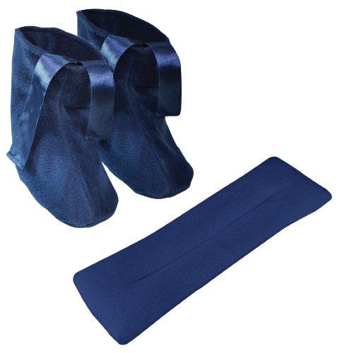 Aidapt VM936E - Zapatillas y bufanda de calor, se calientan en el microondas
