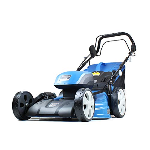 Hyundai Cordless Lawn Mower Self Propelled Battery Powered 51cm Cutting Width with 120V Lithium Ion Batteries and Charger HYM120LI510, Blue