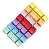 Tutoy 4Pcs Un Espacio En Blanco R1 R2 R3 R4 Múltiples Color Pbt Grueso OEM Perfil Teclas para Teclado Mecánico-Púrpura