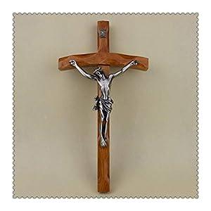 YUANYUAN520 Actividades Católica Cristianos Cruz Crucifijo 30 * 16cm Reliquias Exquisito Teca Rood Jesús Cruz Figura Jesu Cordero De Figuras Dios Joyería