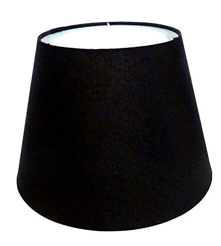 Lampenschirm/Tischleuchte/Stehlampe/Schwarz/Stoff / E27 / Groß