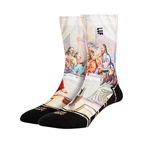 LUF SOX Classics Supper - Socken für Damen und Herren, Unisex-Größe 35-39, 40-43 und 44-48, mehrfarbig, Ferse und Fußspitze leicht gepolstert