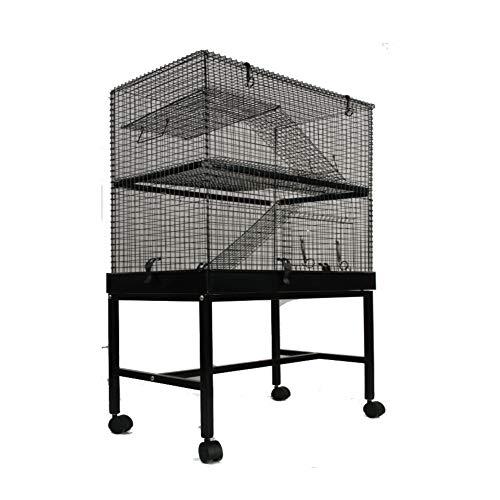 MYPETS - Nager Käfig TOP1 XL 115x70x45cm mit Schublade für leichtes Reinigen - Rattenkäfig groß - Voliere für Degu, Chinchilla, Frettchen, Wüsten-Rennmäuse & Co - mit Etagen und Leitern auf Rollen