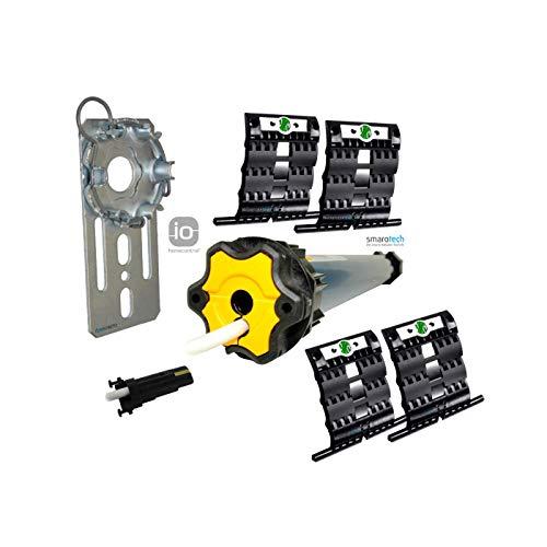 Nachrüstset zum Modernisieren von Gurt/Kurbel auf Somfy Rollladenmotor Oximo 50 io 10/17 (bis 4,5 m²) inkl. 4 St. SecuBlock + Fertigkastenlager