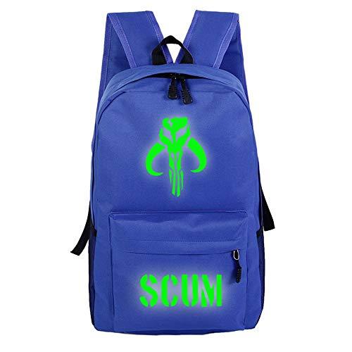 Scum Rucksack mit Spieldruck, leicht, einfaches Design, für Jungen und Mädchen A09 32 X 16 X 46cm
