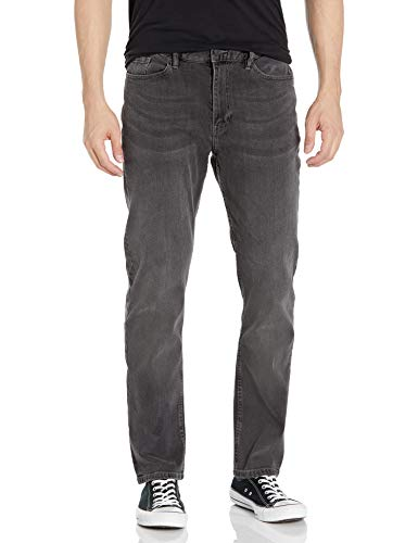 DC APPAREL Men's Worker Straight Denim Pant, Medium Grey, 3332