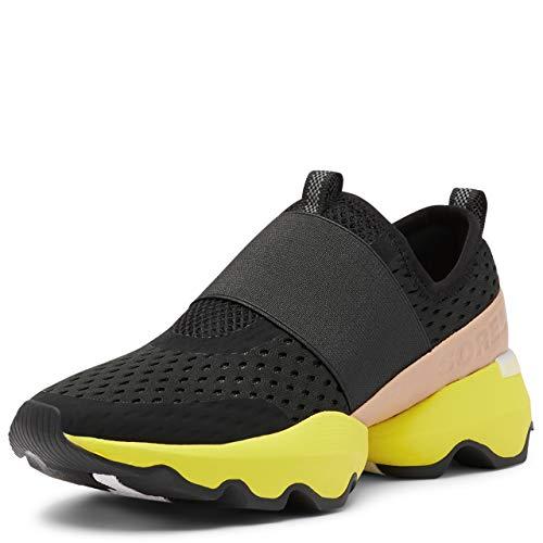 Sorel Women's Kinetic Impact Strap Sneaker - Black, Yellow - Size 12