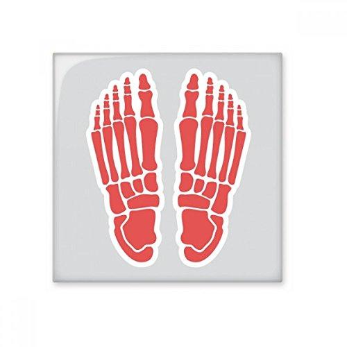 DIYthinker Ilustración del Cuerpo Humano Hueso del pie Brillante baldosa cerámica de baño Cocina Muro de Piedra Artesanal de Regalo Decoración