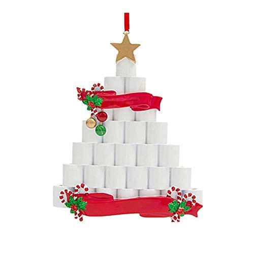 Hanomes Weihnachtsschmuck 2020 Klopapier üBerlebende Familie,Weihnachten Dekorationen AnhäNger,Diy Weihnachtsdekorationen HäNgende Ornamente,Baumschmuck Weihnachtsbaum HäNgen Ornament
