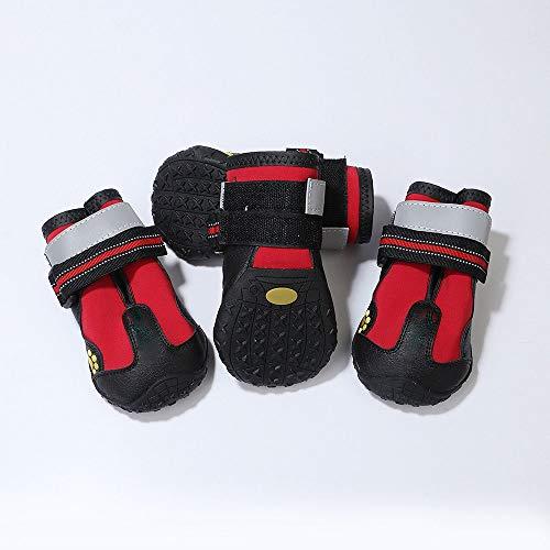 BXGZXYQ Zapatos para Mascotas Zapatos para Perros Al Aire Libre A Prueba De Agua Además De Terciopelo Zapatos para Perros Grandes Botas para La Nieve Suministros para Mascotas