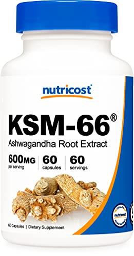 Nutricost KSM-66 Ashwagandha Root Extract 600mg, 60 Veggie Caps - High...