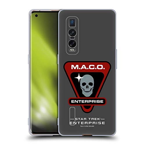 Official Star Trek Maco Mirror Universe Badges ENT Soft Gel Case Compatible for Oppo Find X2 Pro