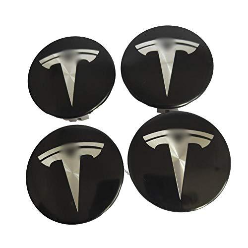 Lancei 4 stücke Edelstahl Radkappen für Tesla Modell S X 3 Radmitte Abdeckkappen Nabenabdeckung Logo Abzeichen Schutz
