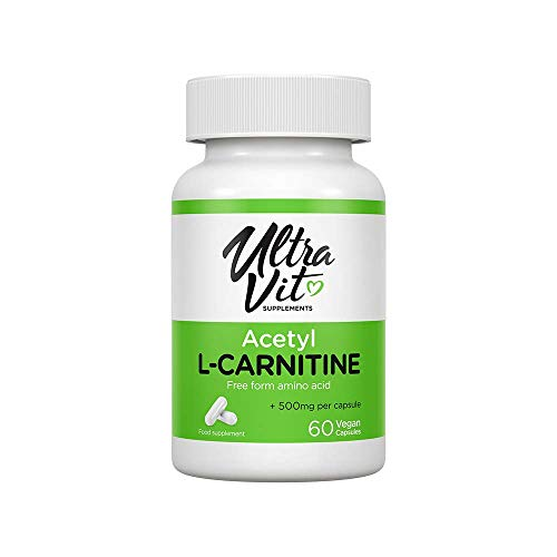 UltraVit Acetyl-L-CARNITINE | Free Form Amino Acid | 60 Vegan Capsules