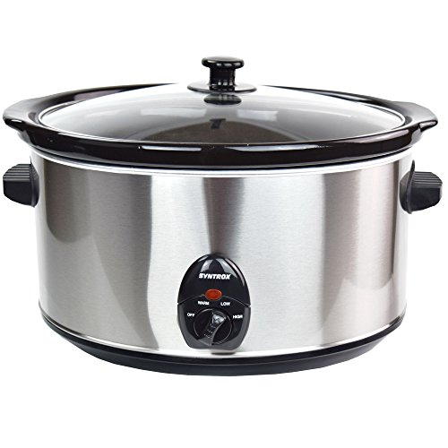 Syntrox Germany – 8,0 L Acero Inoxidable Slow Cooker