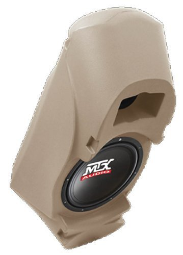 "MTX Thunderform Custom Subwoofer Enclosure w 10"" Sub for Chevy & GMC Suburban, Yukon, Full Size Blazer, Tahoe, Reg & Ext Cab Trucks (TAN)"