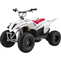 "Big enough to tackle rugged off-road terrain, this pumped-up dirt quad is the perfect step up in size and adventure for older riders Quad dimensions – 50.4"" L x 28.7"" W x 31.9"" H 