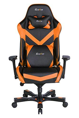 CLUTCH CHAIRZ Throttle Series Charlie Premium Gaming Chair (Orange)