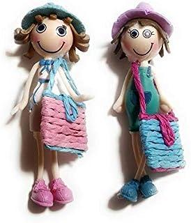 Aayam Design and Solutions Doll Shape Blue Color Plastic Fridge Magnets (5 cm x 2 cm x 2 cm)