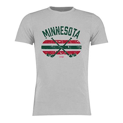 BRAYCE Minnesota T-Shirt I Eishockey Shirt Größe S - 3XL I Hockey Style für Eishockeyspieler und Fans (XL)